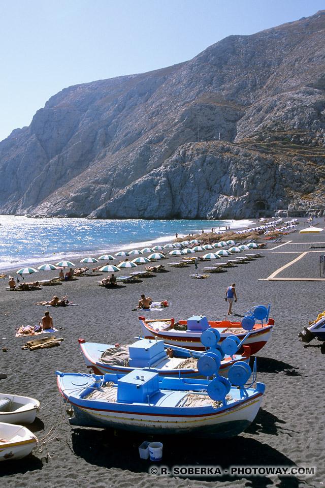 plages à Santorin