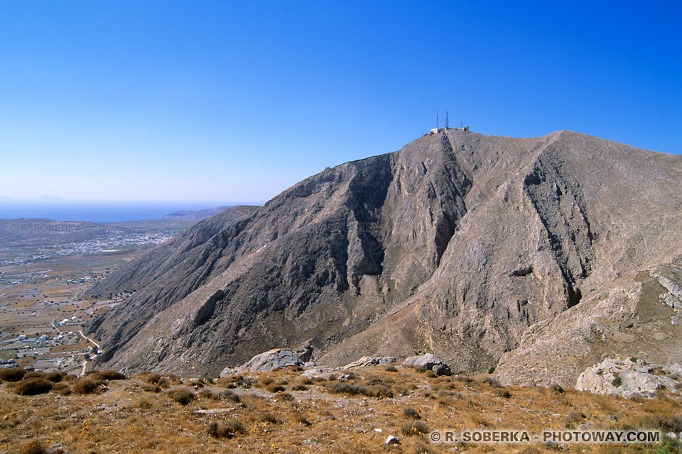 mont Prophitis Elias à Santorin