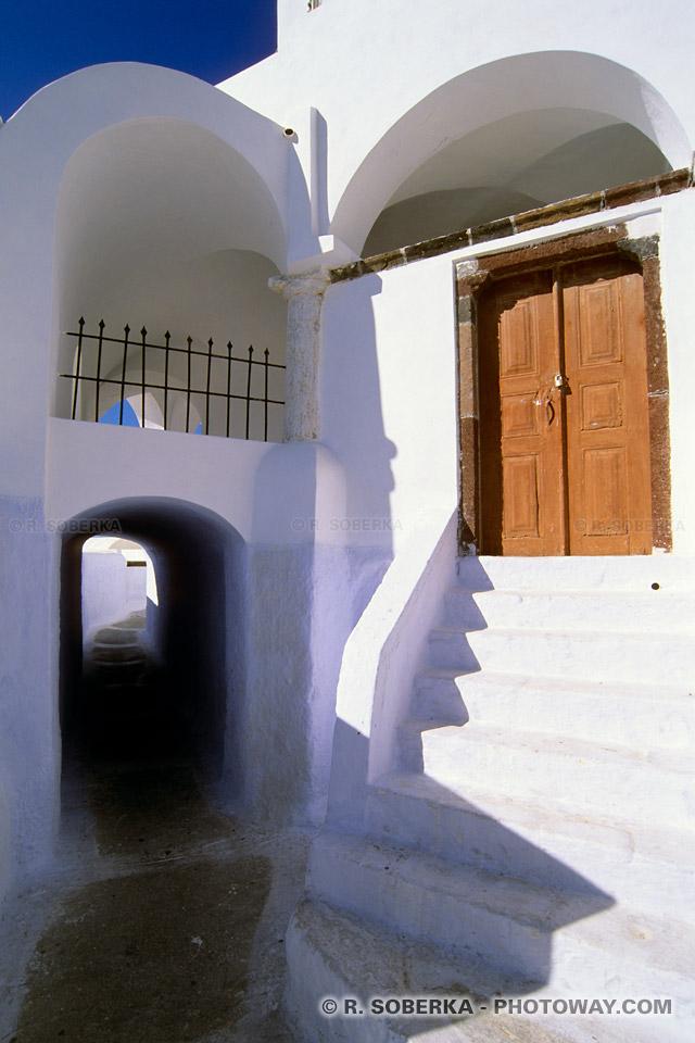 ruelle et Carnet de voyage à Santorin