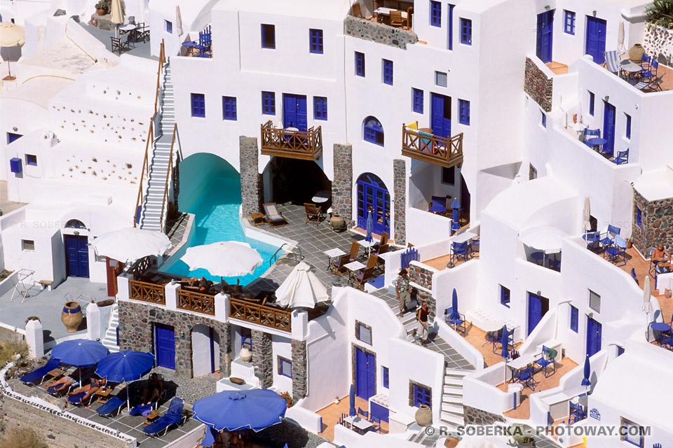 Hôtels à Santorin hébergement