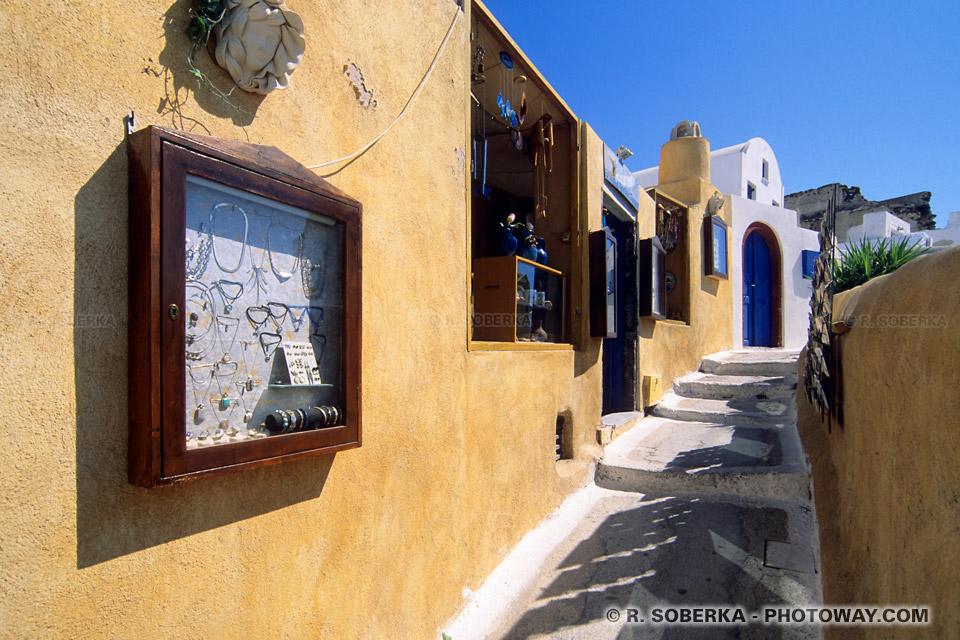 ruelle touristique Santorin