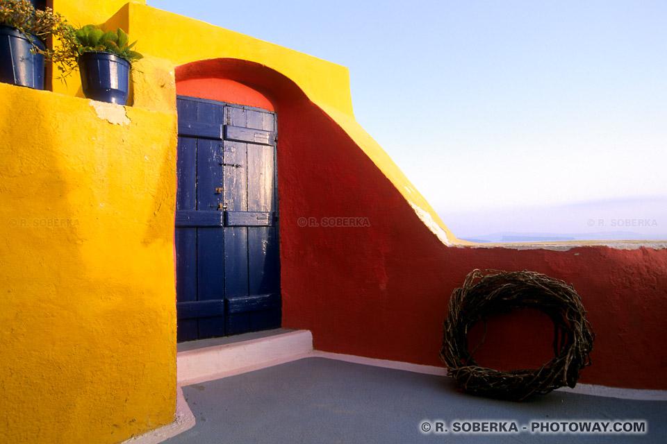 couleurs de Santorin