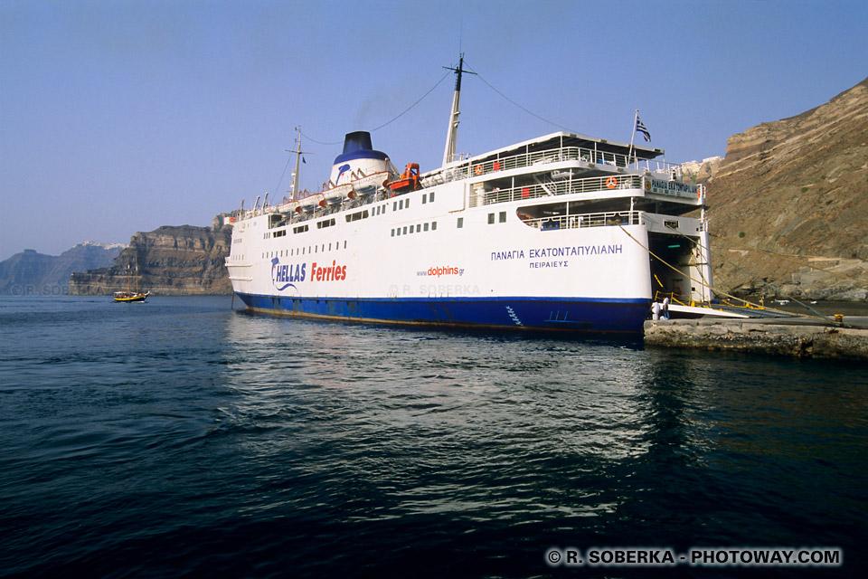 Bateaux Santorin vers Athènes
