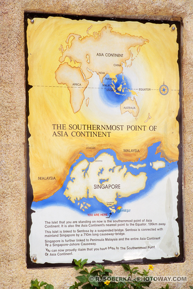 Photos de Sentosa, le point le plus au sud du continent Asiatique