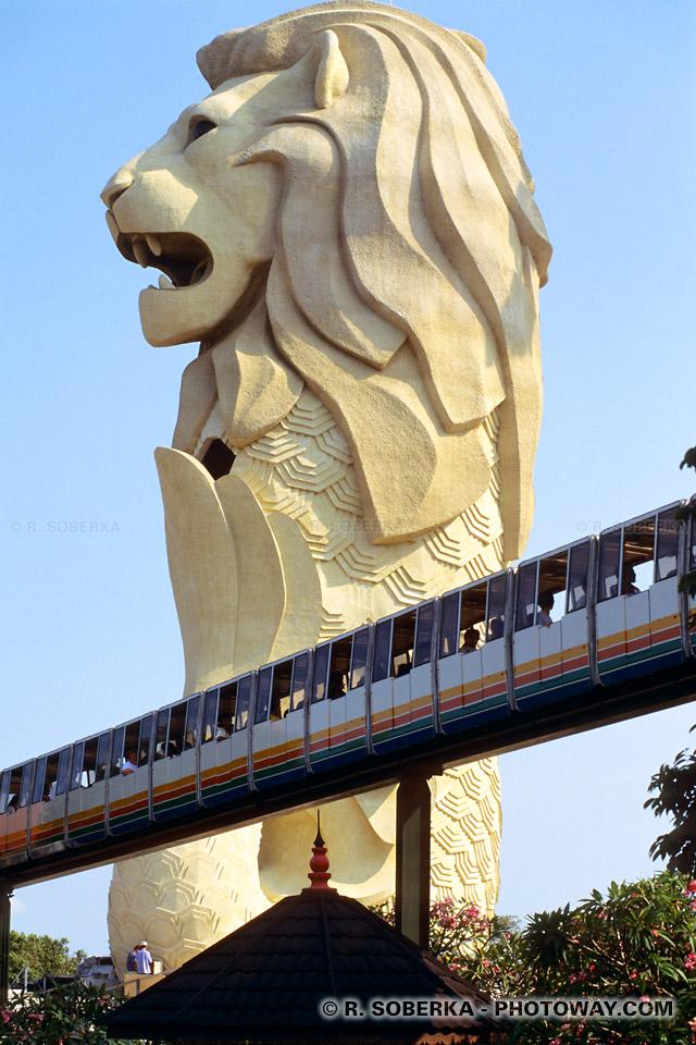 Photos de monorails, photo du monorail de Sentosa à Singapour