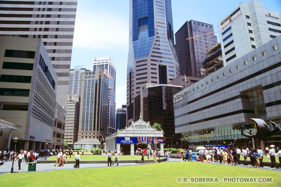 Photos des quartiers d'affaires de Singapour