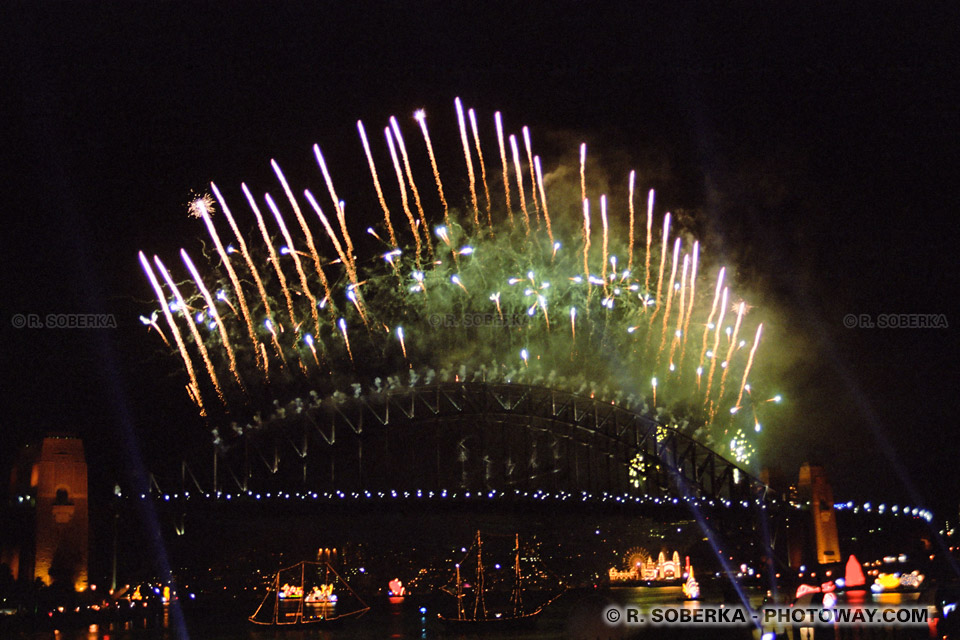 image Photos de feu d'artifice photo d'un feu d'artifice géant à Sydney