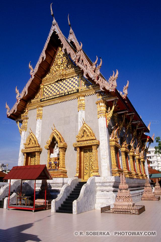 Images et Photographies de temples bouddhistes photographie à bangkok thaïlande