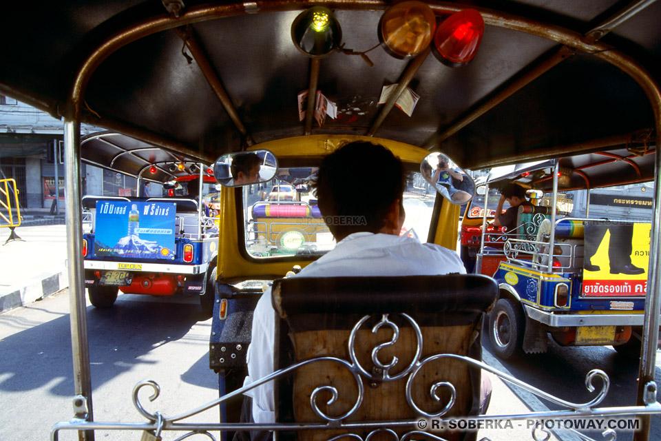 image Photos de Tuk-Tuks photo de Tuk Tuk à Bangkok en Thaïlande