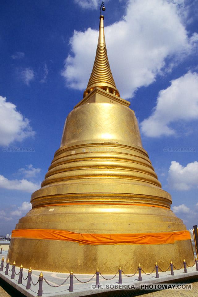 image Photos du Temple de la Montagne d'Or photo à Bangkok en Thailande