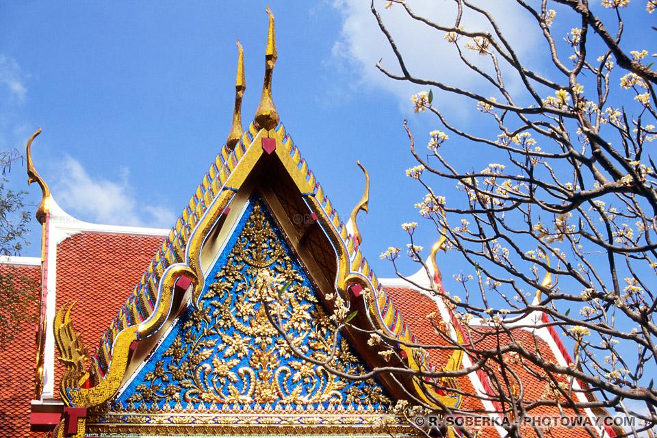 Carte Postale d'un temple de Bangkok