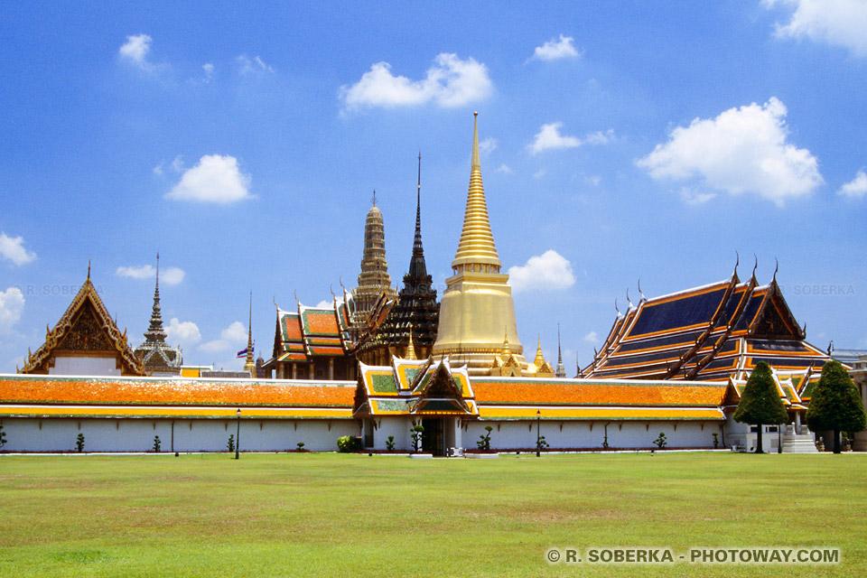 images de la visite des temples et palais de bangkok en Thaïlande