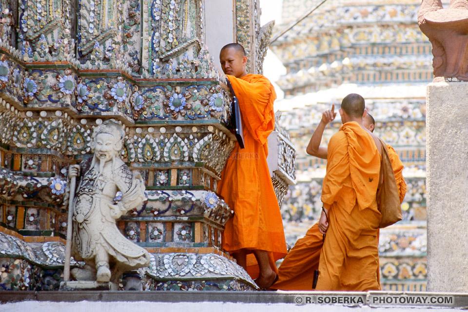 Photos de moines Bonzes Bouddhiste en Thaïlande