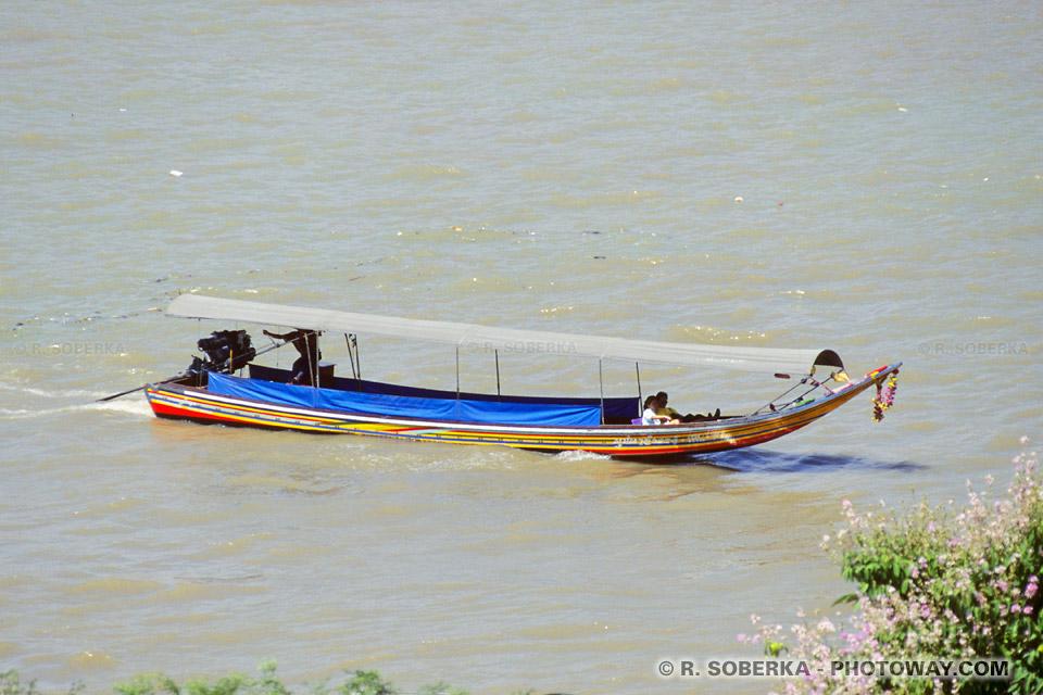 Photo du fleuve Chao Phraya à Bangkok en Thailande