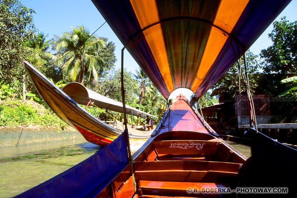 Photos de canaux de bangkok photo des canaux Klongs en Thaïlande