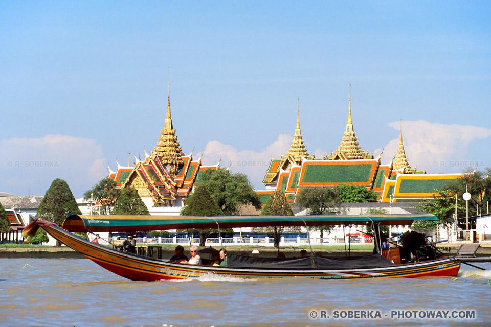 Photos du fleuve Chao Phraya à Bangkk en Thaïlande