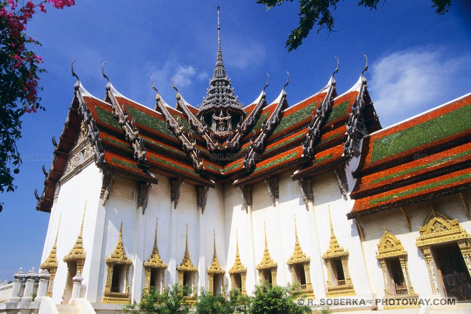 Photos de temples de l'Empire du Siam