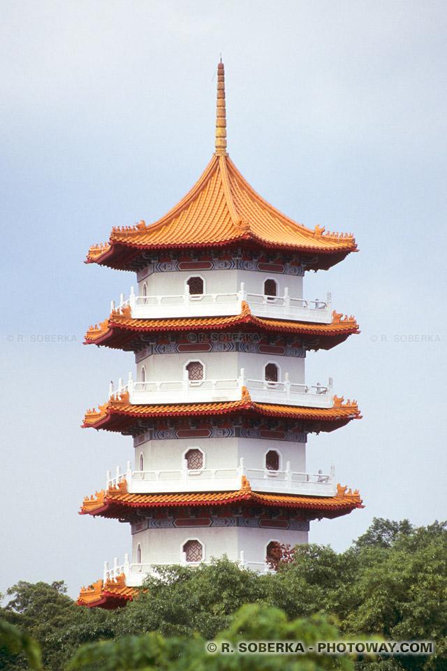 Photo d'une tour chinoise - photos de vacances à Singapour en Asie