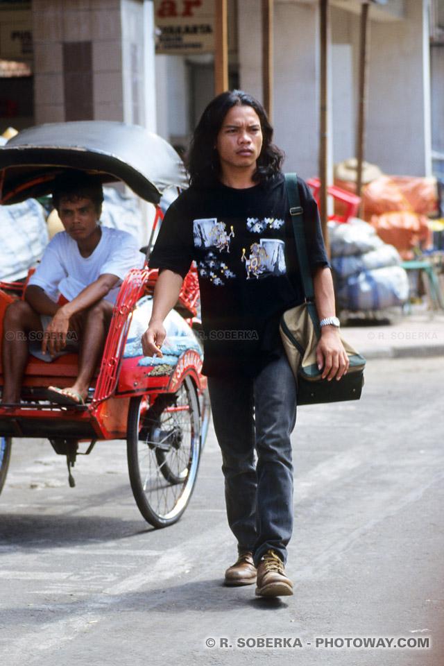 photo d'un jeune indonésien à Jogyakarta