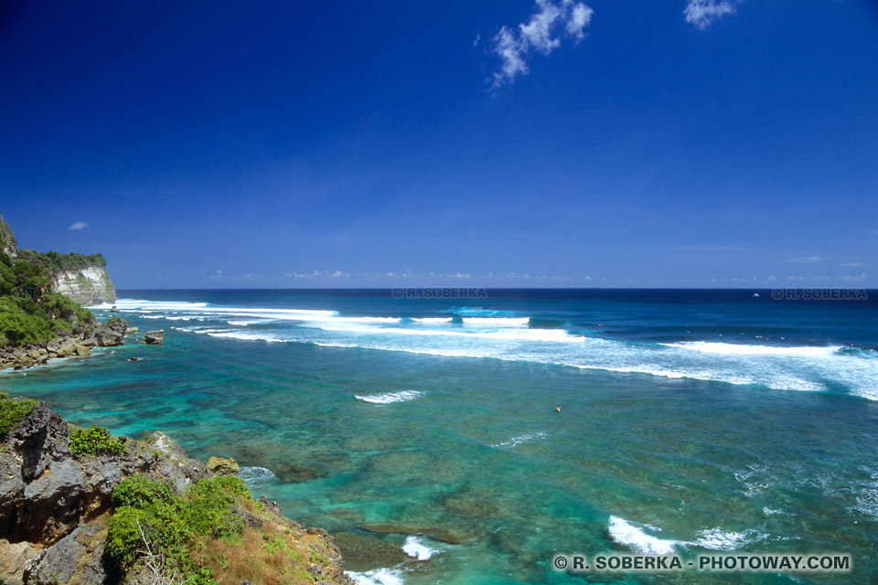Photo de spot de surf à Bali - Tourisme à bali dans l'océan Indien