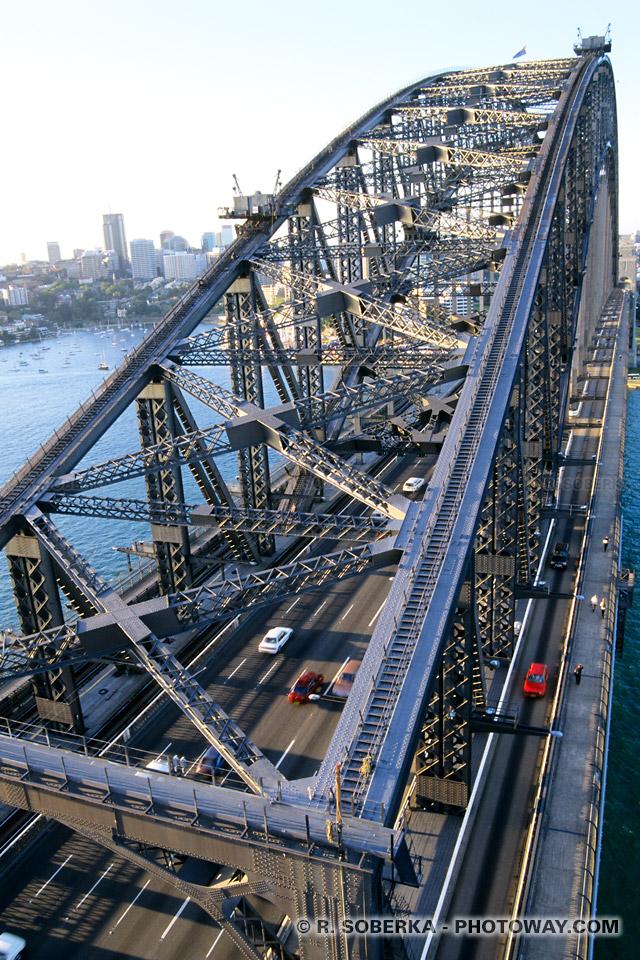 Photos du Harbour Bridge et de ses rivets photos du rivetage