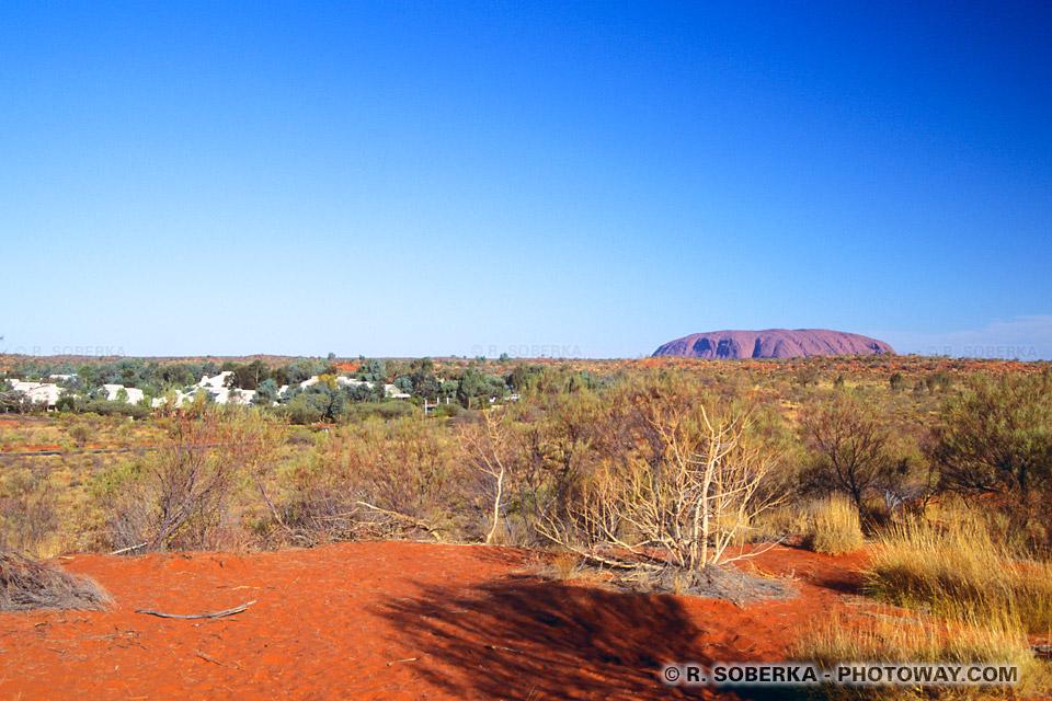 Hébergement à Ayers Rock guide touristique dans le désert en Australie