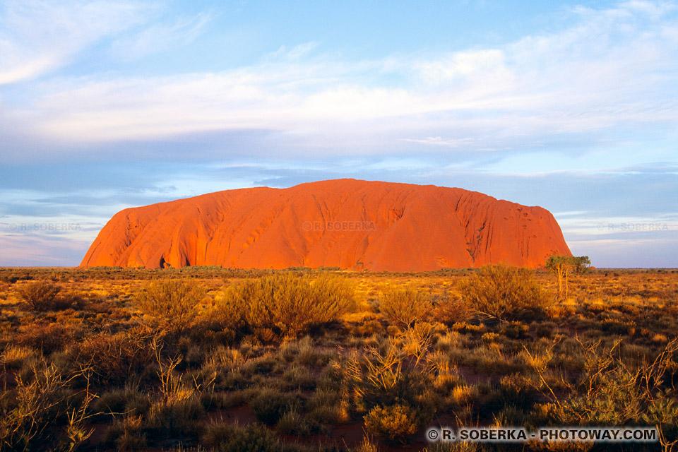 Photos du soleil couchant dans le désert en Australie