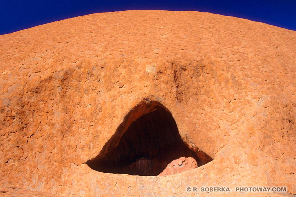 Photo de la zone sacrée de Warayuki à Uluru