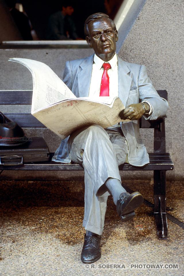 Photo d'une statue factice de Yuppie en Australie
