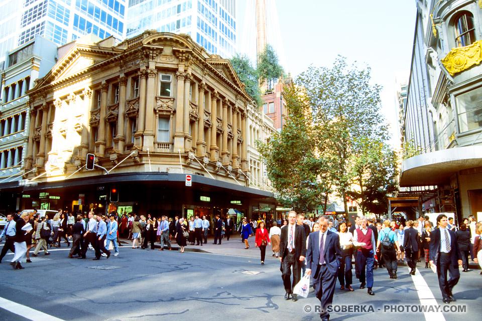 Photo de rues du centre ville de Sydney
