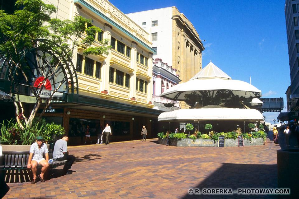 Photo d'une rue piétonne du centre ville de Brisbane