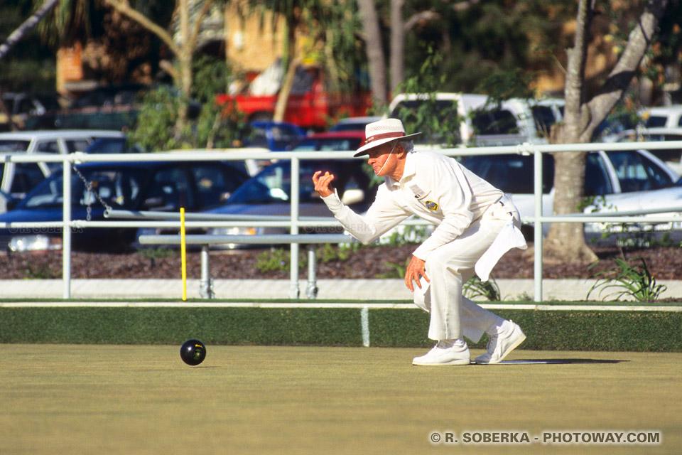 Photo d'un pro australien - photos d'australiens jouant à la boule anglaise