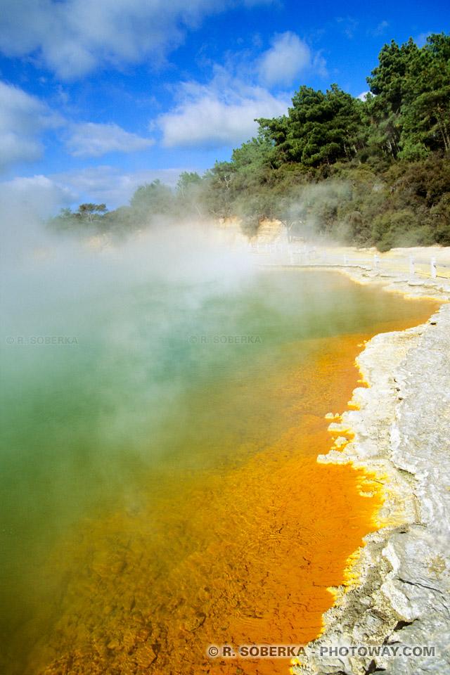 photo d'un site géologique instable en Nouvelle-Zélande