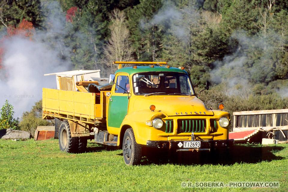 Photos de fumées volcaniques en Nouvelle zélande