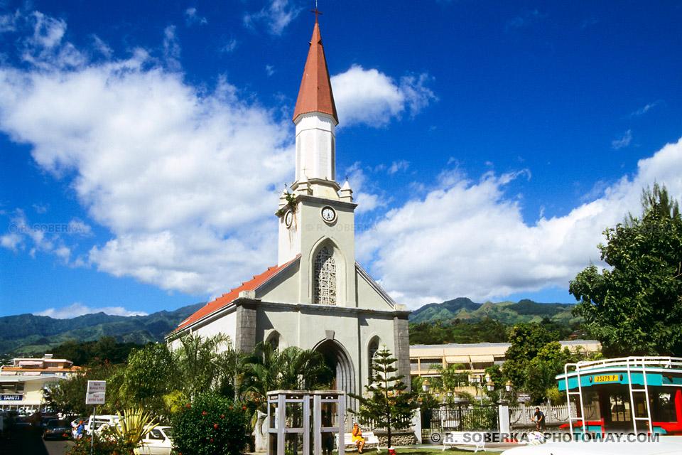 Image de papeete à Tahiti la capitale de Polynésie Française