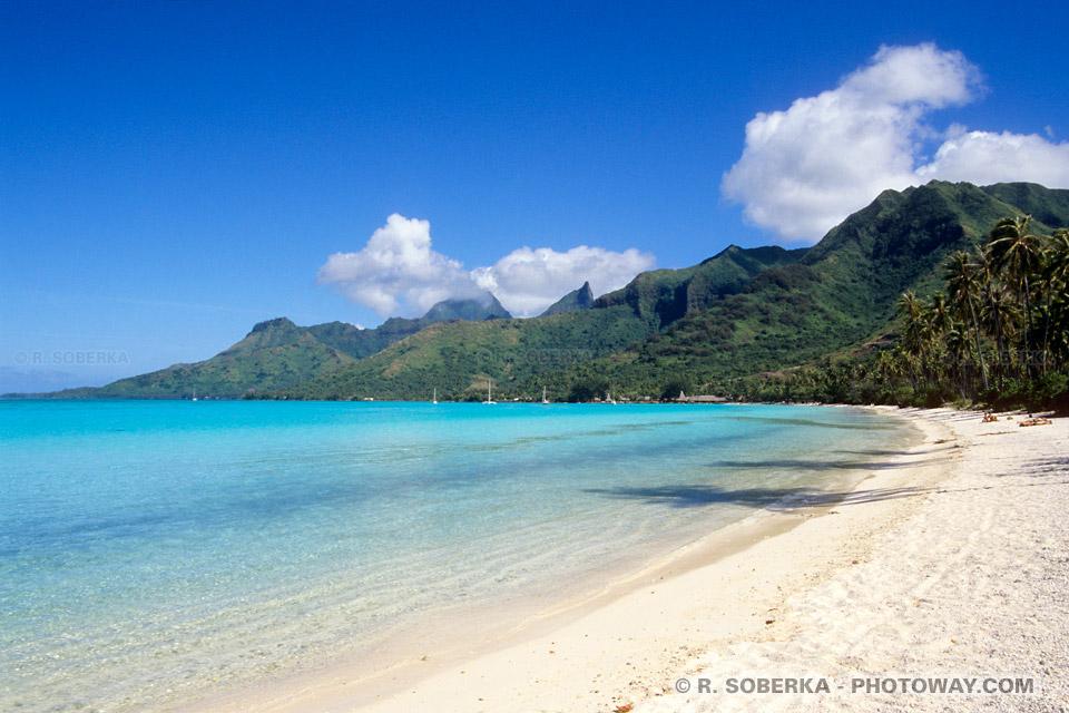 Photos des plages Moorea dans le Pacifique sud