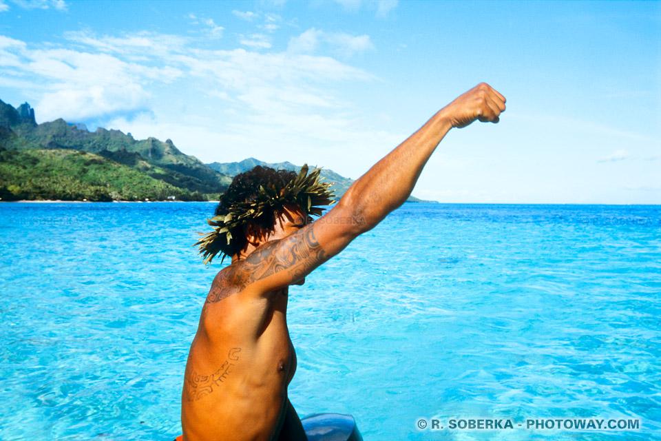 Photographie en Polynésie : photographies d'un Polynésien