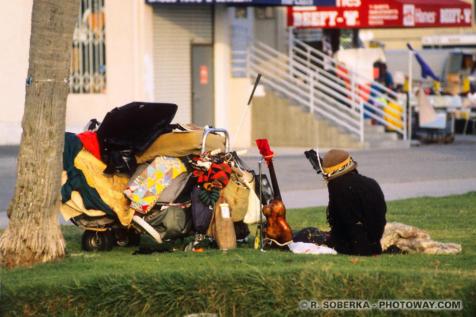 Poto de Homeless - Phénomène de société Américain au Etats Unis