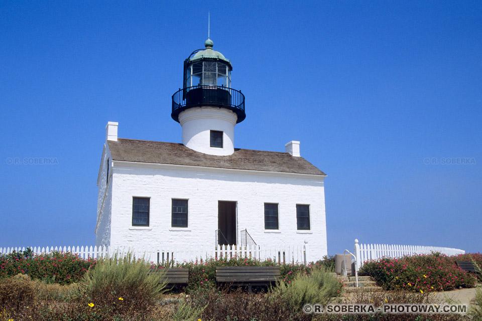 Photo d'un phare à la frontière mexicaine en Californie