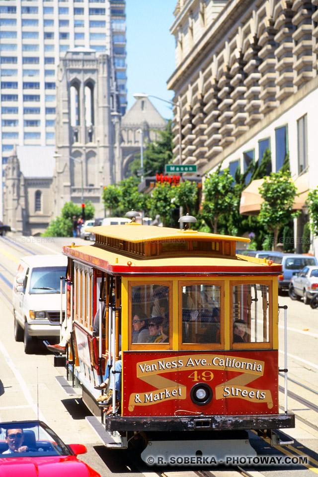 Photos des tramways de San Francisco véritables monuments historiques