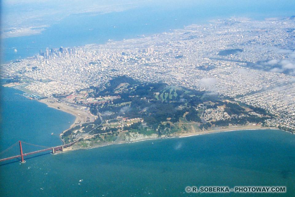 Vols au dessus de San Francisco photo depuis le vol