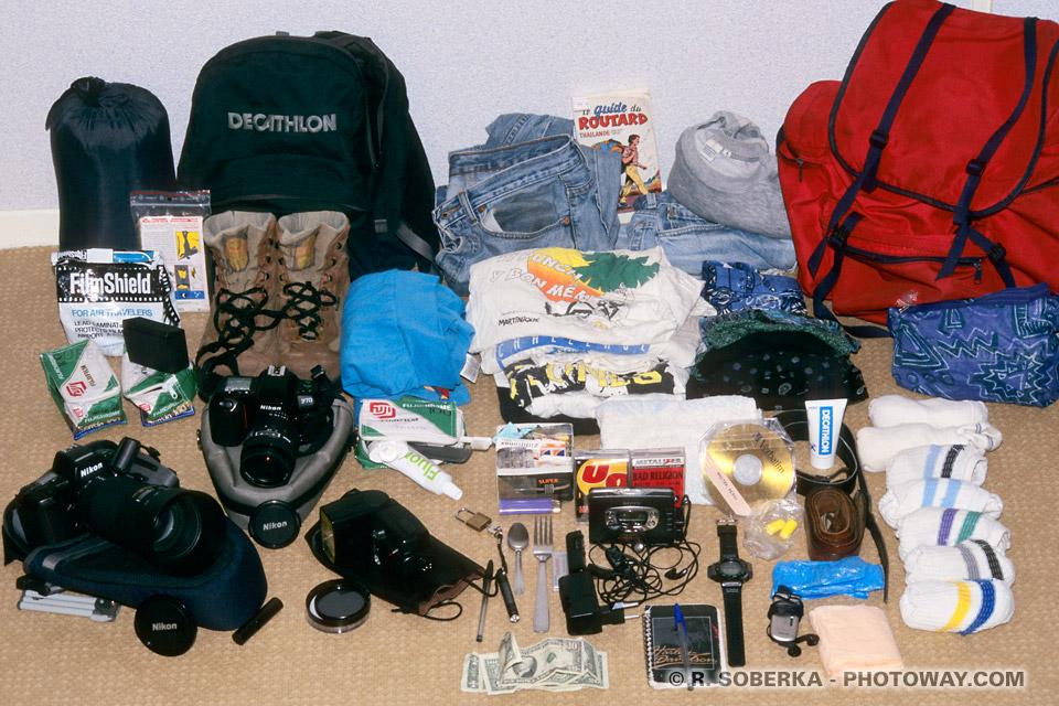 Equipement Tour du Monde matériel retenu voyage tour du monde