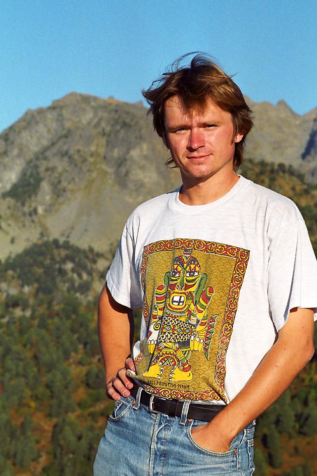 Richard Soberka dans les Alpes en France